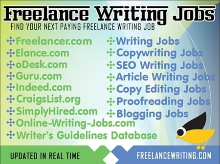 freelance writing from home jobs