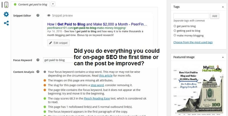 blog republishing search traffic