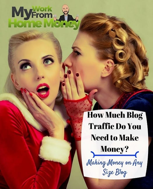 how much blog traffic to start making money
