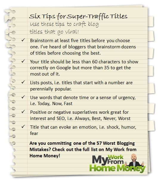 tips for creating viral blog titles