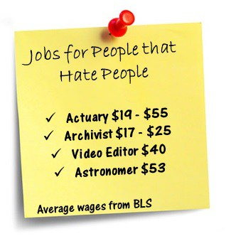 jobs for people that do not like people
