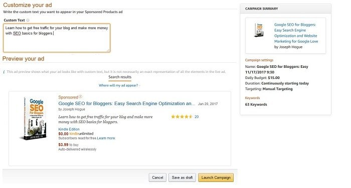easy book marketing on amazon