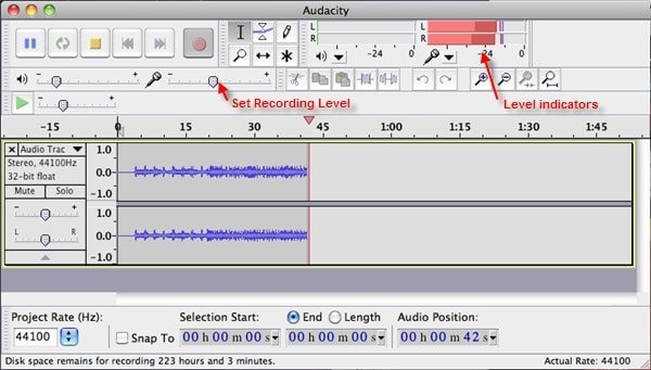 setting audio levels to create an audiobook
