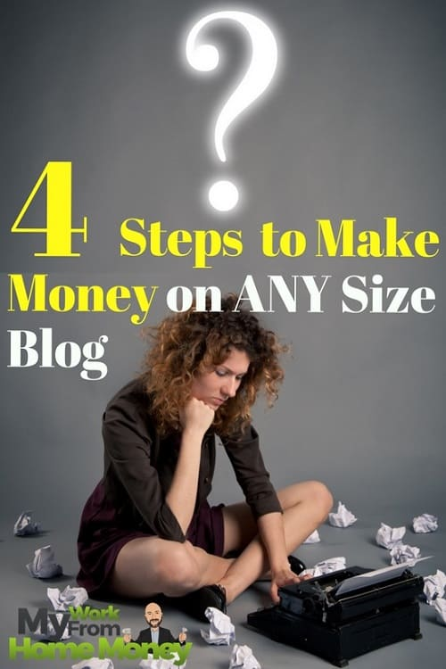 how to make money on any size blog
