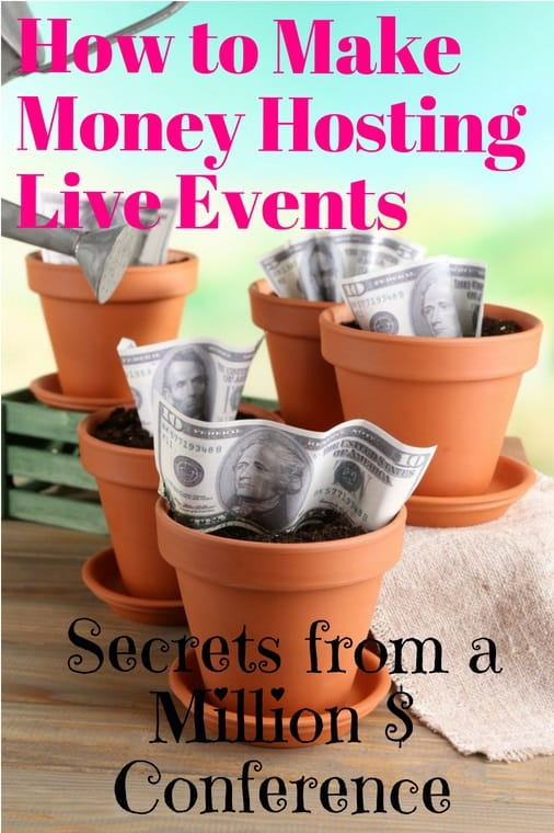 how to make money hosting live events