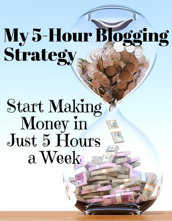 part time blogging strategy