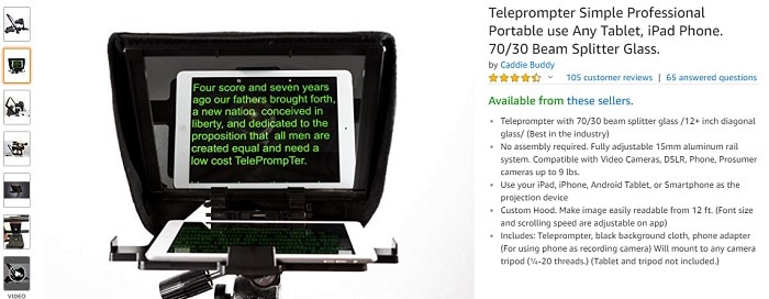 best teleprompter for youtube