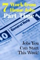 easy part time work from home jobs