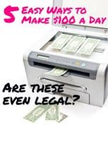 easy ways to make 100 dollars a day