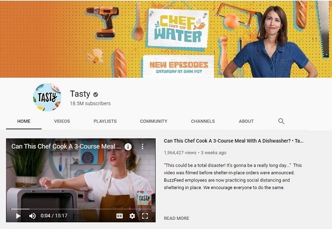YouTube Food Channels